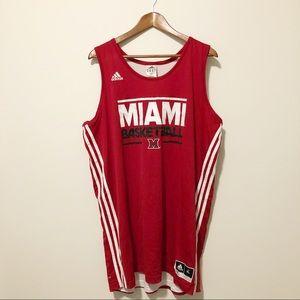 [ adidas ] • #10 Miami basketball jersey